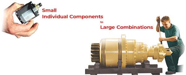 Small individual components to large combinations