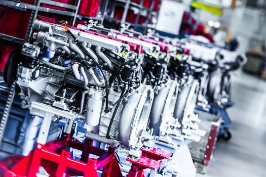 STEYR MOTORS engines at production site in Steyr